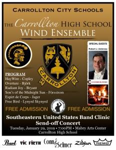 send off concert flyer